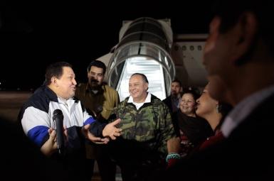 llegada de chavez a venezuela