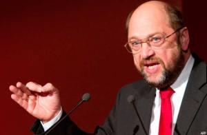 Martin Schulz Presidente del parlamento de la Unión Europea (UE).