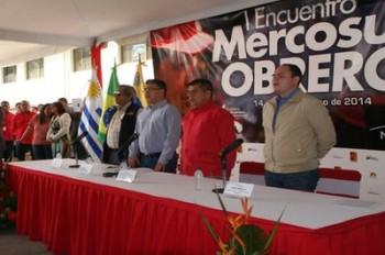 Culminó este sábado el primer encuentro del Mercosur Obrero llevado a cabo en Venezuela